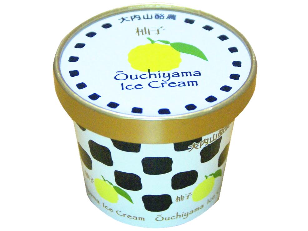 大内山アイスクリーム柚子